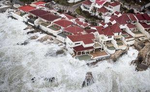 L'île de Saint Martin, le 6 september 2017, après le passage de l'ouragan Irma.