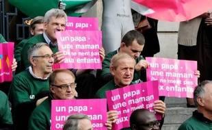 Des manifestations ont rassemblé mardi dans 75 villes de France des opposants au projet de loi ouvrant aux homosexuels le droit au mariage et à l'adoption, à l'appel de l'association pro-vie Alliance Vita.