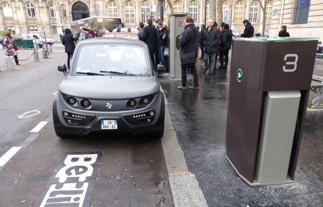 La place Saint-Gervais, à deux pas de la maire de Paris, accueille depuis ce mardi 12 janvier l'une des premières stations Bélib de Paris.