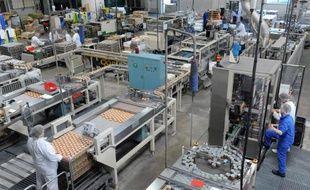 Une chaîne de production dans une usine en France