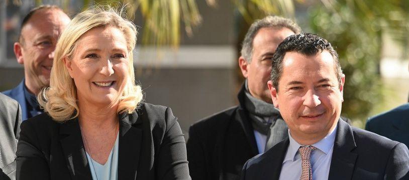 Marine Le Pen venue soutenir Sébastien Pacull à Sète.