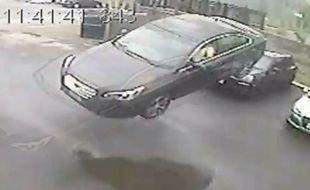 Capture d'écran de la vidéo d'un crash à Toronto, au Canada, dévoilées par la chaîne CTV.