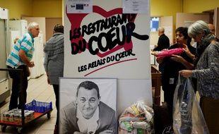 Dans un centre des Restos du coeur à Coutances en 2018.