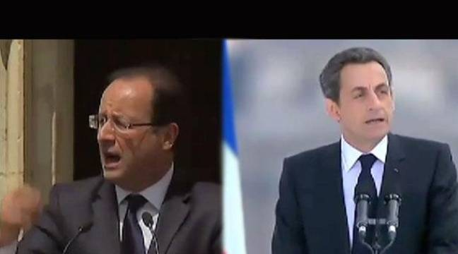 Montage photo: François Hollande et Nicolas Sarkozy le 1er mai 2012. – 20MINUTES.FR