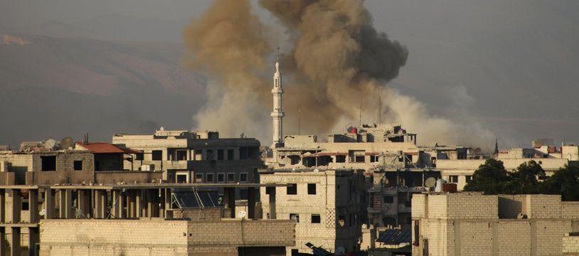 La Ghouta orientale est pilonnée depuis plusieurs semaines par le régimesyrien.