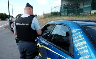 Un contrôle routier en France (illustration).