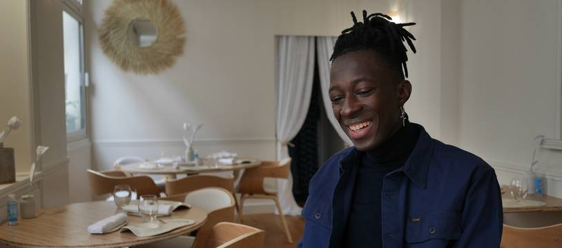 Mory Sacko dans son restaurant Mosuke à Paris, le 12 octobre 2020.