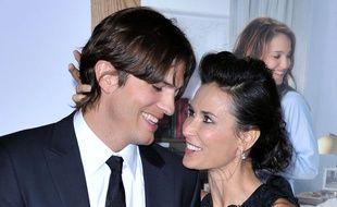 Les acteurs Ashton Kutcher et Demi Moore en 2011