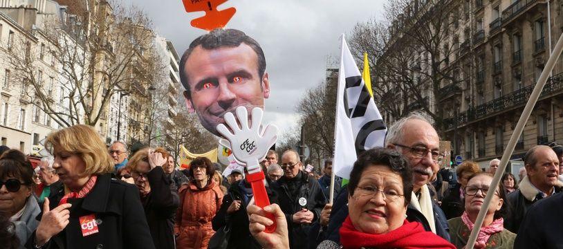 Manifestation des retraités à Paris, le 15 mars 2018.