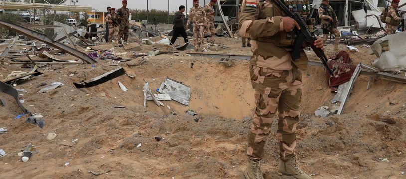 Un militaire à Taji, en Irak.