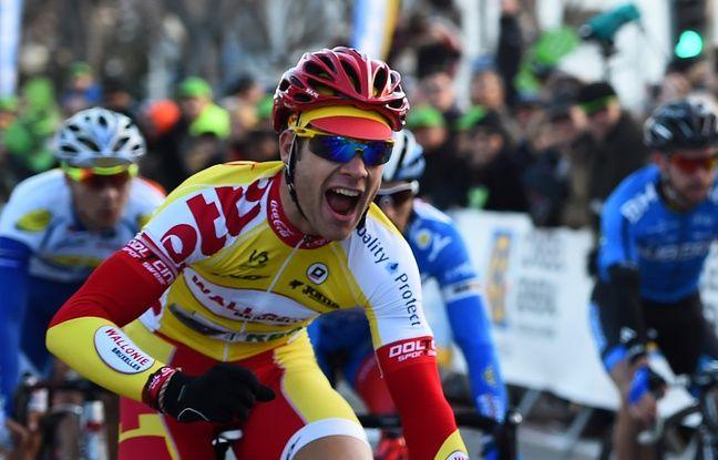 Antoine Demoitié à l'arrivée du Grand Prix de la Marseillaise, le 1er février 2015.