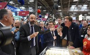 Edouard Philippe au Salon de l'agriculture, le 24 février 2020.