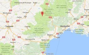 La commune de Sainte-Affrique, dans l'Aveyron.