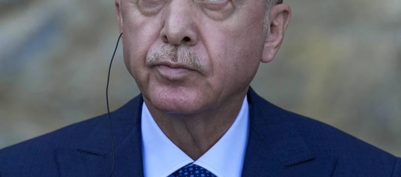 Recep Tayyip Erdogan le 16 octobre 2021 à Istanbul (Turquie)