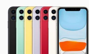 L'iPhone 11 décliné en six couleurs.