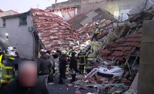 La maison effondrée à Poussan