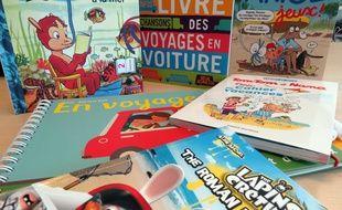 SŽlection de livres de voyages pour les enfants, juillet 2014.