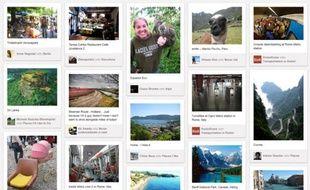 Le réseau social Pinterest.