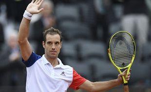 Richard Gasquet après sa victoire contre Kei Nishikori à Roland-Garros le 29 mai 2016.