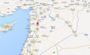 Google map de Hama, en Syrie.