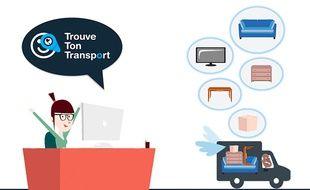 La plateforme collaborative met en relation des transporteurs avec des particuliers désireux de déménager.