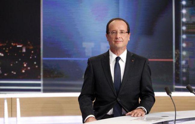 François Hollande sur le plateau du 20H de TF1, le 9 septembre 2012.