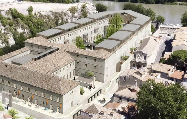 Un aperçu de la future cour des Doms à Avignon.