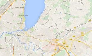 Carte de localisation de Gaillard (Haute-Savoie)