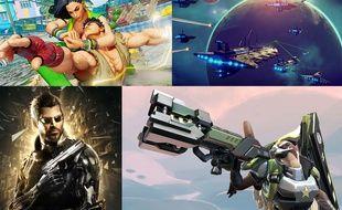 Street Fighter V, No Man's Sky, Deus Ex: Mankind Divided et Battleborn.