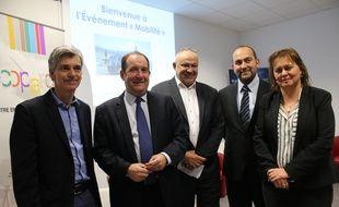 De gauche à droite: Jean-François Nothias, Christophe Duprat, François Baffou, Benoît Chaussi et Véronique Ferreira