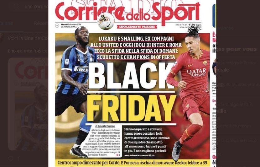 Italie : « Black Friday » avec Lukaku et Smalling en photo… La une du Corriere fait scandale