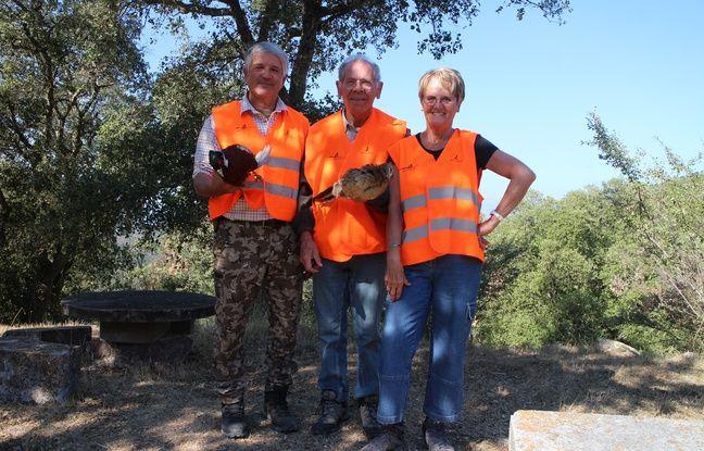 Alain Milanello avec Eliane et Gérard, deux non chasseurs