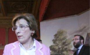 Marie-Noëlle Lienemann et l'ancien maire.