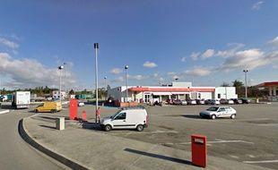 L'aire de repos de Portes-les-Valence, sur l'autoroute A7.