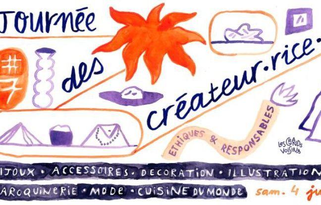 Visuel de la 7e édition de la Journée des Créateur.rice.s des Grands Voisins