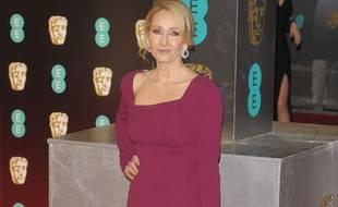 L'auteure J. K. Rowling à son arrivée aux BAFTAs, en février 2017.
