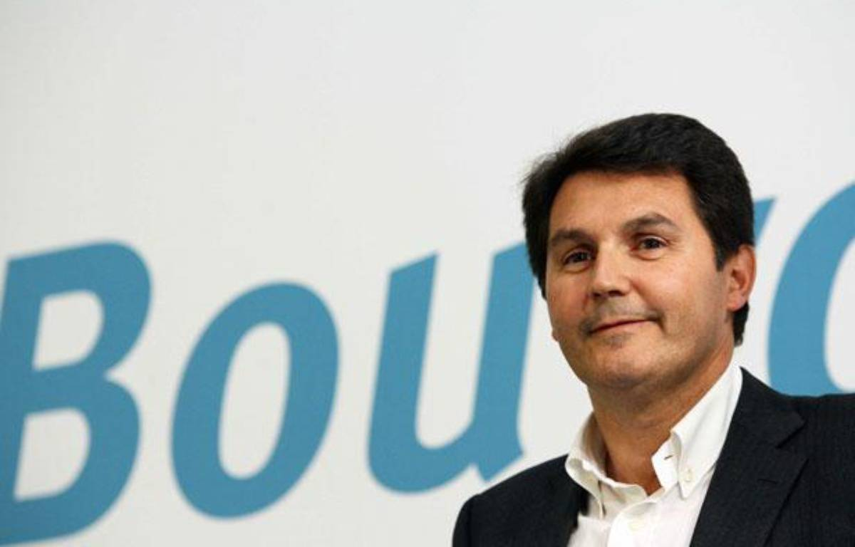 Olivier Roussat, le directeur général de Bouygues Telecom lors de la conférence de presse de Bouygues Telecom pour le lancement de IDEO en mai 2009. – MEIGNEUX/SIPA