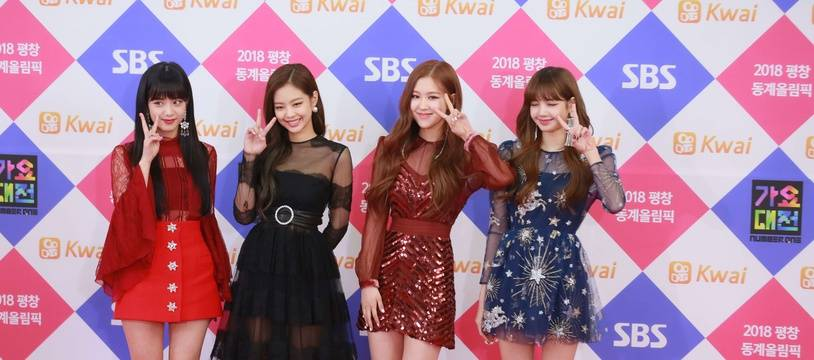 Les chanteuses du groupe de K-Pop Blackpink à Séoul, en décembre 2017.