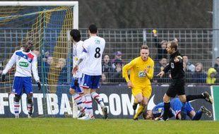 Lyon éliminé par un club de national, le 6 janvier 2013 à Epinal.
