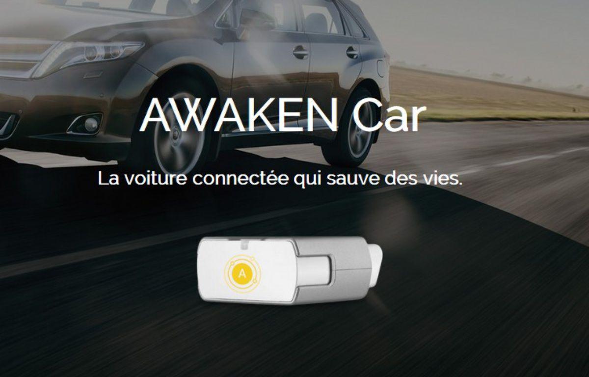 Le boîtier Awaken Car alerte les secours en cas d'accident. – Capture d'écran awaken.fr