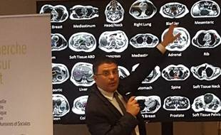 Le directeur scientifique David Azria présente le projet de l'Intelligence Artificielle.