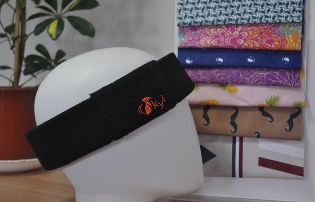 La deuxième version exclusive du bandeau Okyl qui protège la tête des cyclistes.