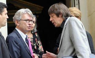 Jean-Claude Mailly, le secrétaire général de FO et Bernard Thibault, de la CGT, le 22 novembre 2012.