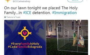 Une église d'Indianapolis aux Etats-Unis a érigé un diorama de Marie, Joseph et bébé Jésus assis dans une cage sur sa pelouse en signe de protestation contre la séparation des familles d'immigrants.