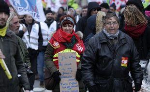 Manifestation à Lille contre la réforme des régimes de retraites.