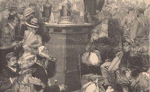 Une salle de désinfection à la gare de Lyon, en pleine épidémie de Choléra Nostra