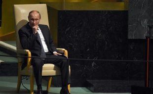 Le président russe Vladimir Poutine, lors de l'Assemblée générale de l'Onu, le 28 septembre 2015 à New York