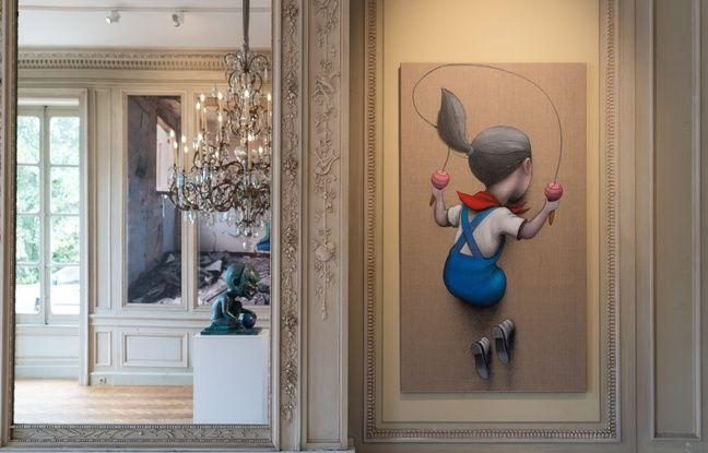 Le street artiste parisien Seth, a apprécié investir les salles néoclassiques du château Labottière à Bordeaux avec ses oeuvres.
