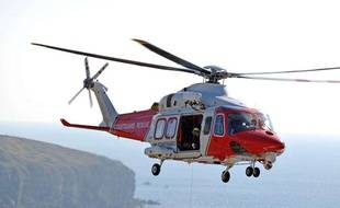 Un hélicoptère des gardes-côtes britanniques, en septembre 2009.