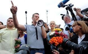 """""""Bonjour, mon nom est Alexeï Navalny et j'ai 37 ans"""", lance l'opposant numéro un à Vladimir Poutine devant une foule de Moscovites venus écouter un de ses discours de campagne en vue des élections municipales à Moscou le 8 septembre."""